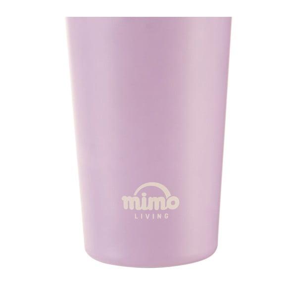Světle fialový nerezový cestovní termohrnek Premier Housewares Mimo,380ml