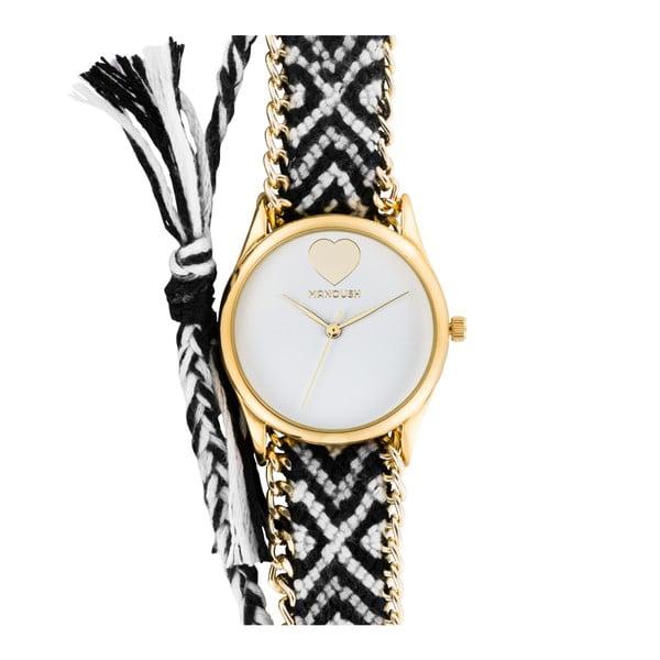 Set dámských hodinek a prstenu Manoush Zebra