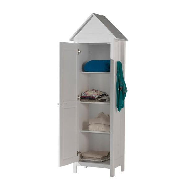 Bílá dětská šatní skříň Vipack Lewis, 190 x 40 cm