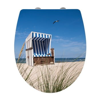 Capac WC cu închidere lentă Wenko Beach Chair, 45 x 38,8 cm imagine