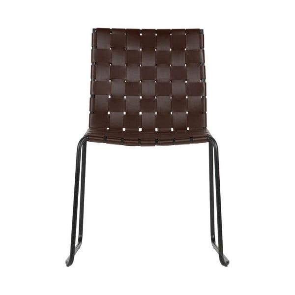 Sada 2 hnědých jídelních židlí BePureHome Icon