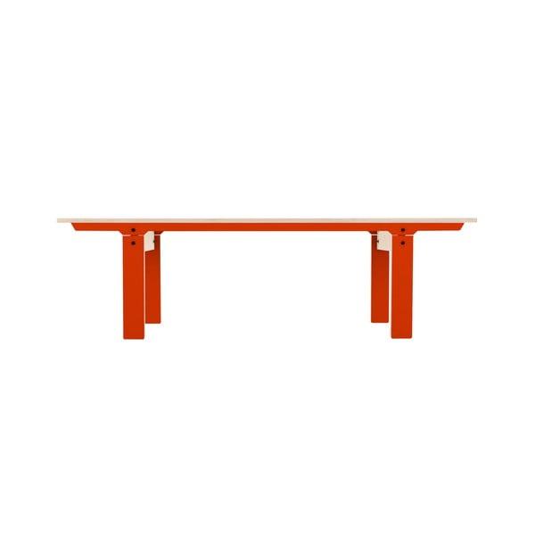 Oranžová lavice na sezení rform Slim 04, délka 165 cm