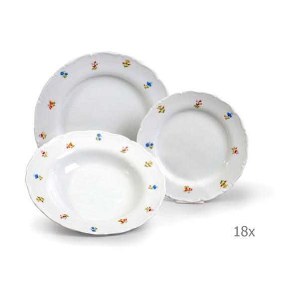 Komplet 18 talerzy porcealnowych Thun Ophelia