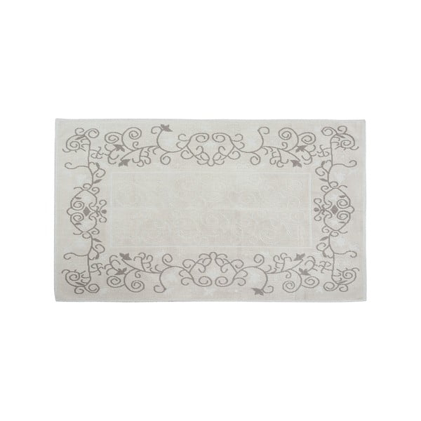 Bavlněný koberec Floral 100x200 cm, krémový