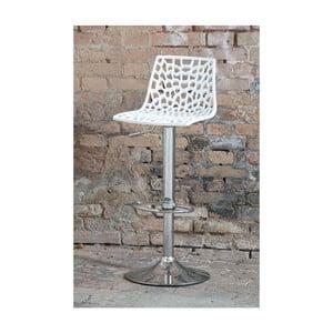 Sada 2 bílých nastavitelných barových židlí Castagnetti Gass