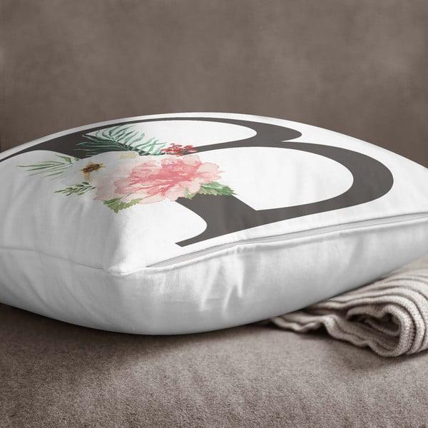 Față de pernă Minimalist Cushion Covers Floral Alphabet B, 45 x 45 cm