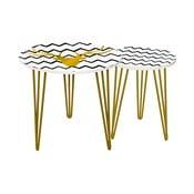 Sada 2 odkládacích stolků Gold Deer, 35 cm + 49 cm