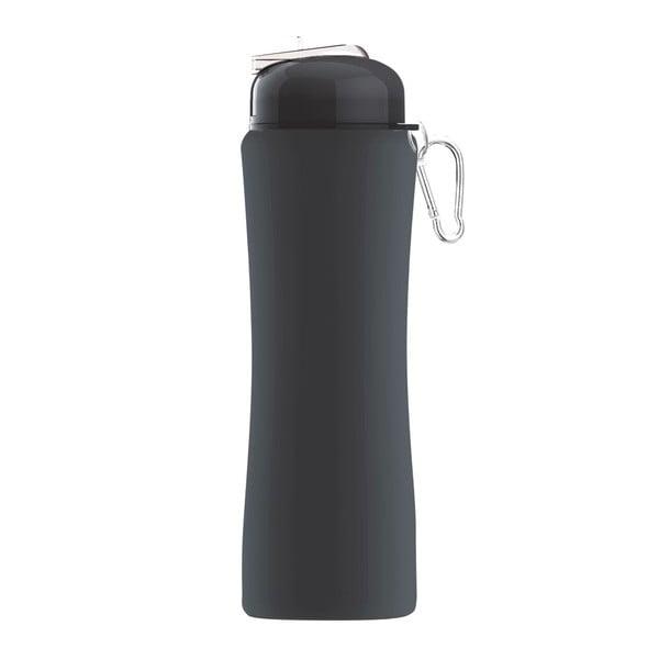 Revoluční sportovní lahev Sili-Squeeze, černá, 650 ml