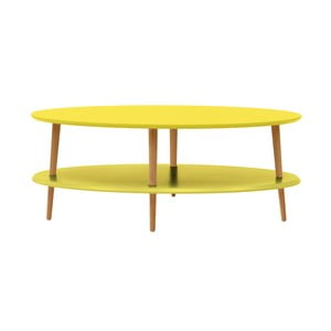 Žlutý konferenční stolek se sníženou spodní deskou Ragaba OVO