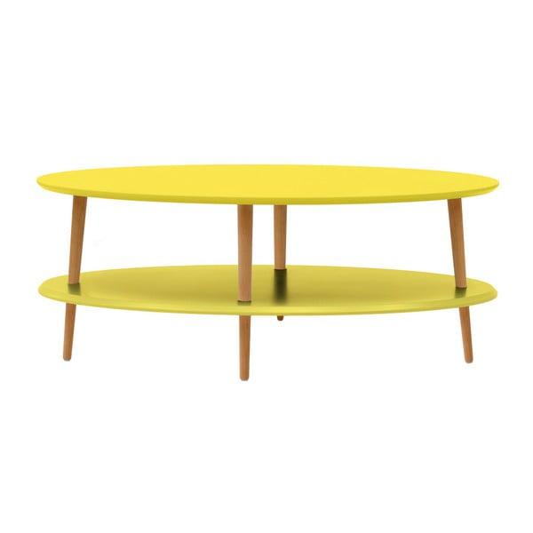 OVO sárga dohányzóasztal alsó polccal - Ragaba