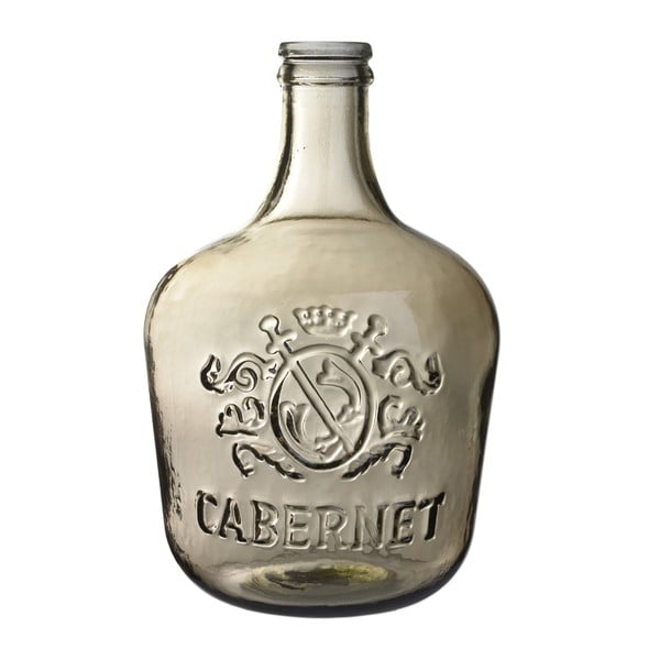 Skleněná váza Cabernet, 42 cm, hnědá