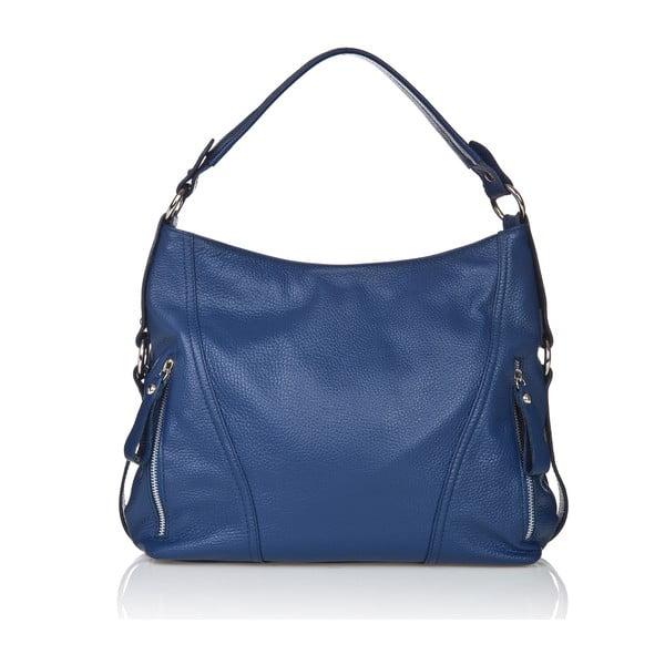 Kožená kabelka v modrej farbe Giorgio Costa Sissala