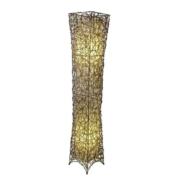 Béžová volně stojící lampa Naeve Korbstehleuchte