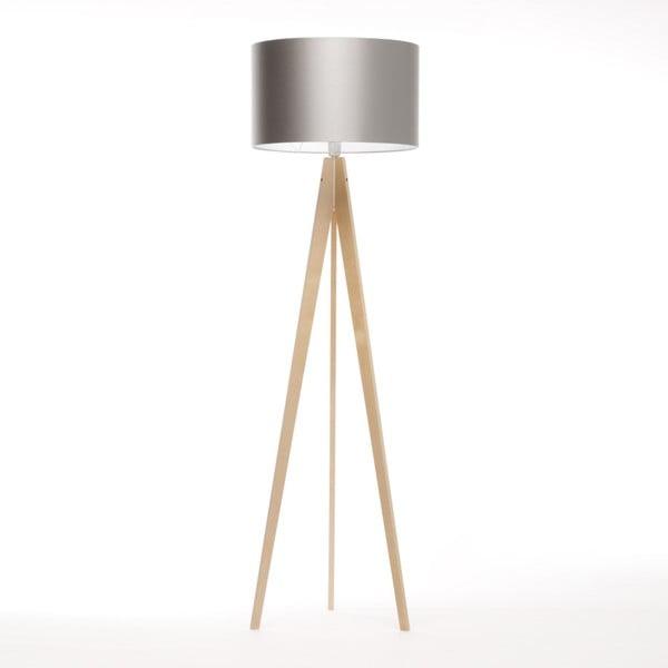 Stříbrná stojací lampa Artist, bříza, 150 cm