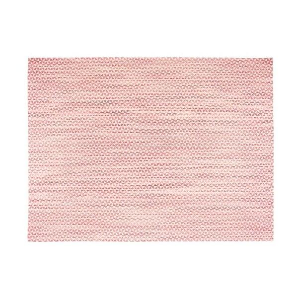 Jasnoczerwona mata stołowa Tiseco Home Studio Melange Triangle, 30x45 cm