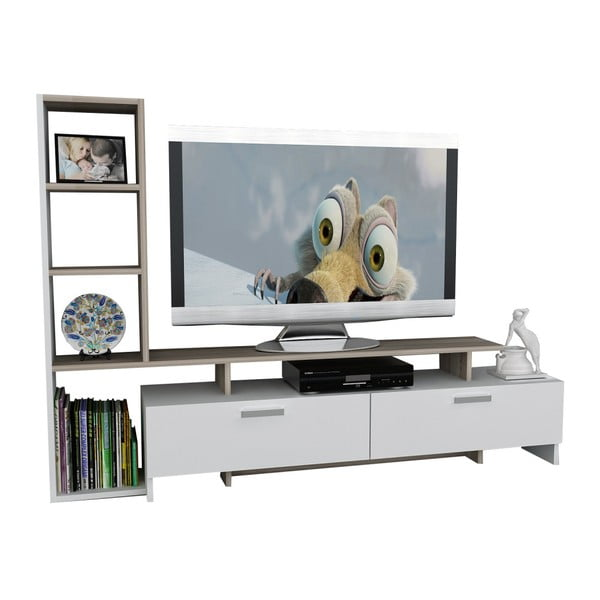 Bílý TV stolek Gardo Simal
