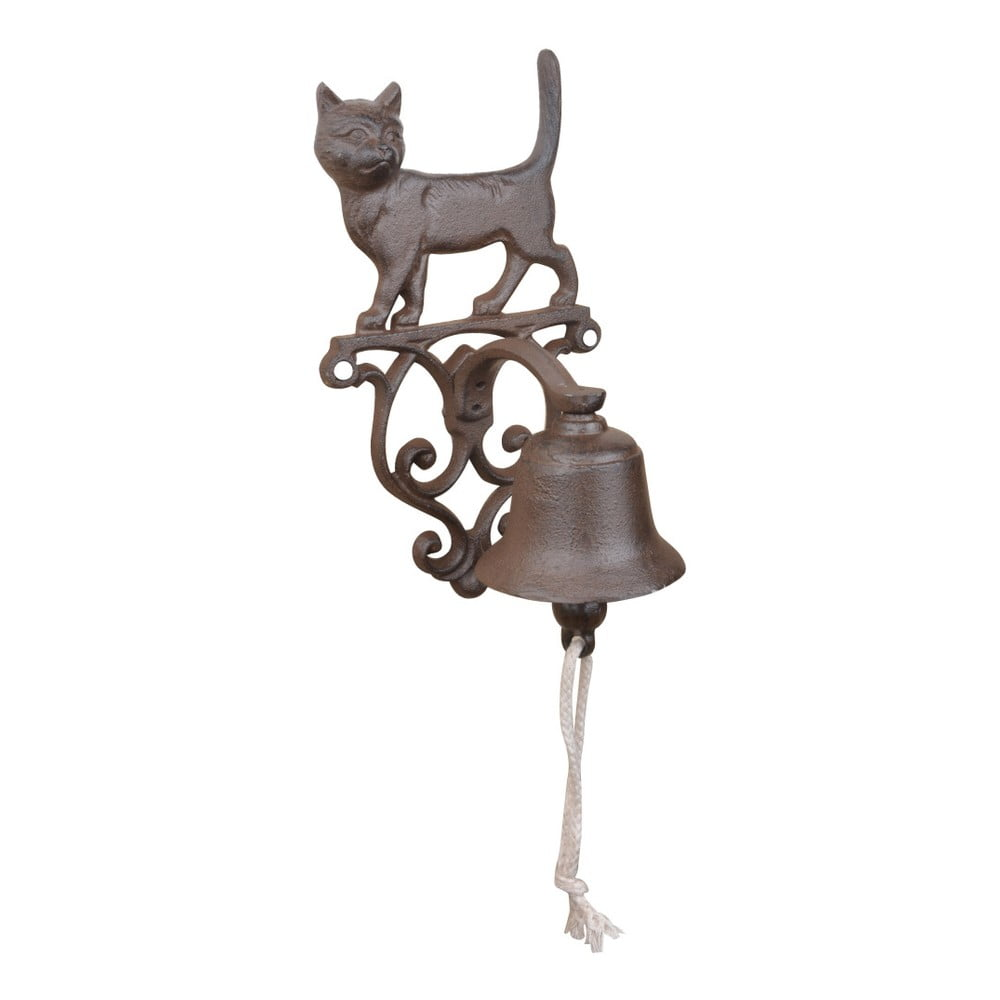 Litinový zvonek s motivem kočky Esschert Design
