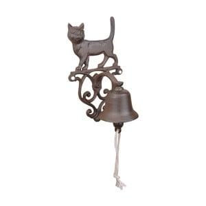 Litinový zvonek s motivem kočky EsschertDesign