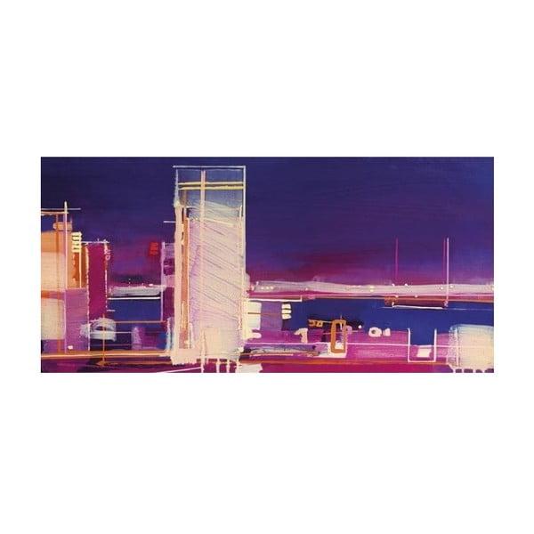 Obraz na plátně Fialové město od Sam Toft, 100x50 cm