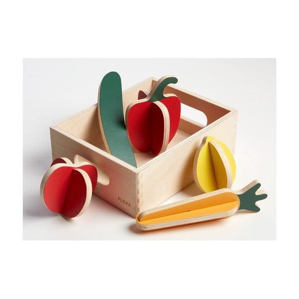 Drevený detský hrací set Flexa Toys Shop Vegetables
