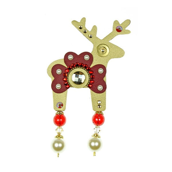 Zlatá brošňa Deers Bortalissimo, 7 cm