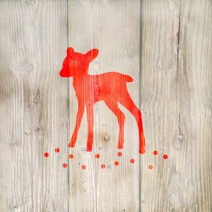 Balení 10 papírových ubrousků s vánočním motivem PPD Winter Fawn Red