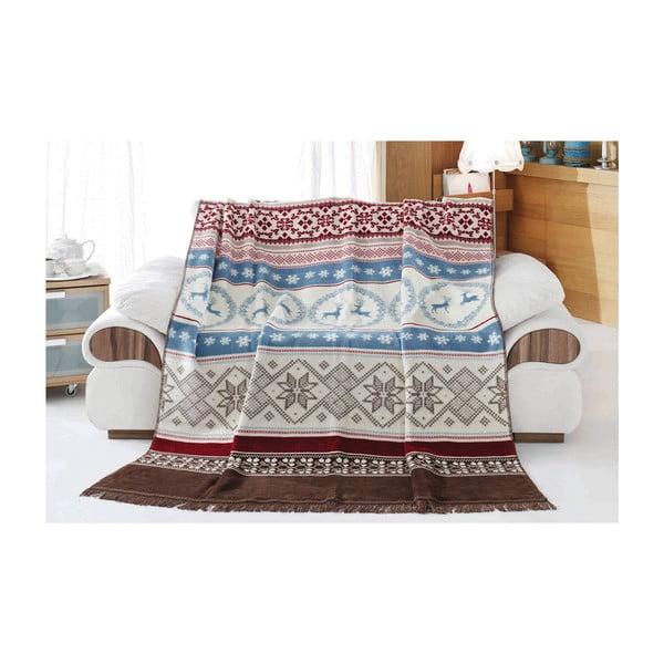 Koc z domieszką bawełny Aksu West, 200x150 cm