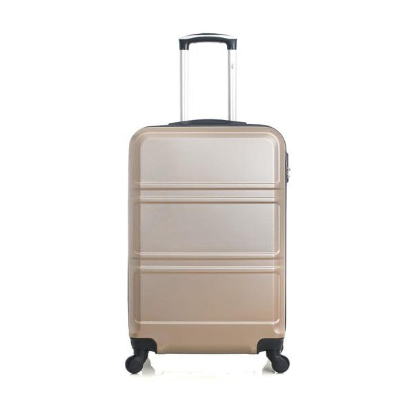 Béžově zlatý cestovní kufr na kolečkách Hero Utah, 37 l