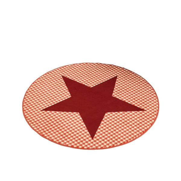 Koberec City & Mix - červená hvězda, 140 cm