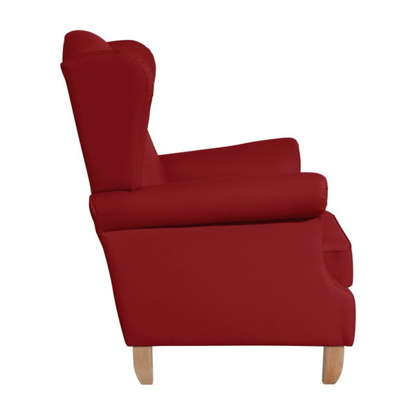 Červené křeslo ušák Max Winzer Verita Leather Chili