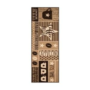 Hnědý běhoun Zala Living Vibe, 67 x 180 cm