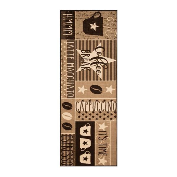 Hnědý běhoun Bougari Vibe, 67 x 180 cm