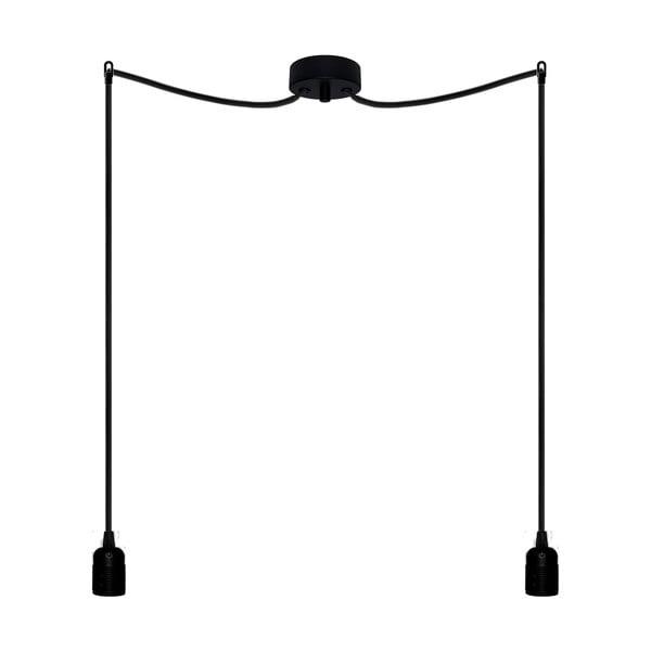 Dva závěsné kabely Uno, černý/černý