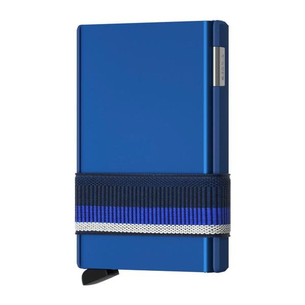 Modrá vysouvací peněženka s pouzdrem na karty Secrid