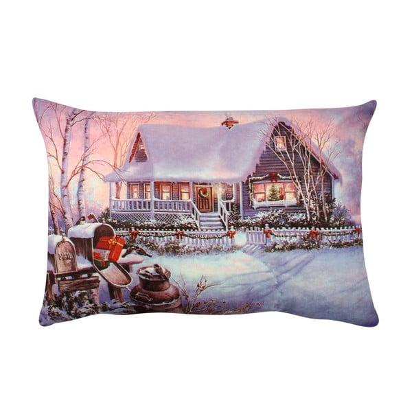Poduszka Violet Christmas, 33x48 cm