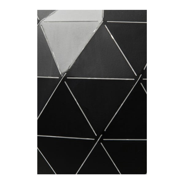 Černé stropní svítidlo Kare Design Triangle, Ø40cm