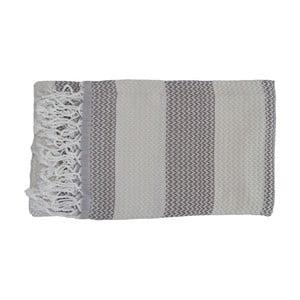 Prosop țesut manual din bumbac premium Alya, 100 x 80 cm, gri