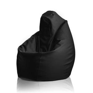 Kožený sedací vak Hruška, černá