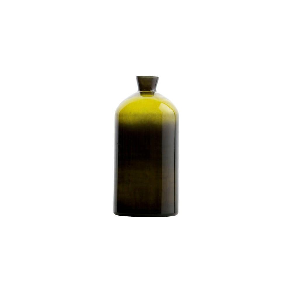 Tmavě zelená skleněná váza De Eekhoorn Chemistry, výška40cm