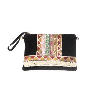 Béžovočerná kožená kabelka Tina Panicucci Hindu