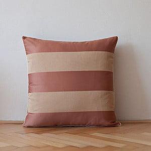 Polštář s výplní Brown Stripes, 50x50 cm