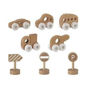 Set 8 jucării din lemn de fag Bloomingville Toy Car