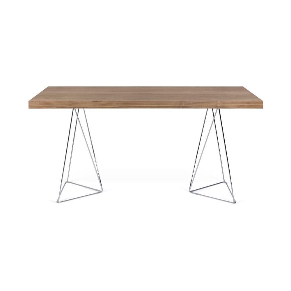Hnědý stůl TemaHome Multi, délka 160 cm