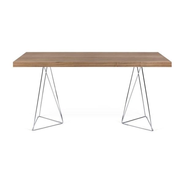 Hnedý stôl TemaHome Multi, dĺžka 160cm