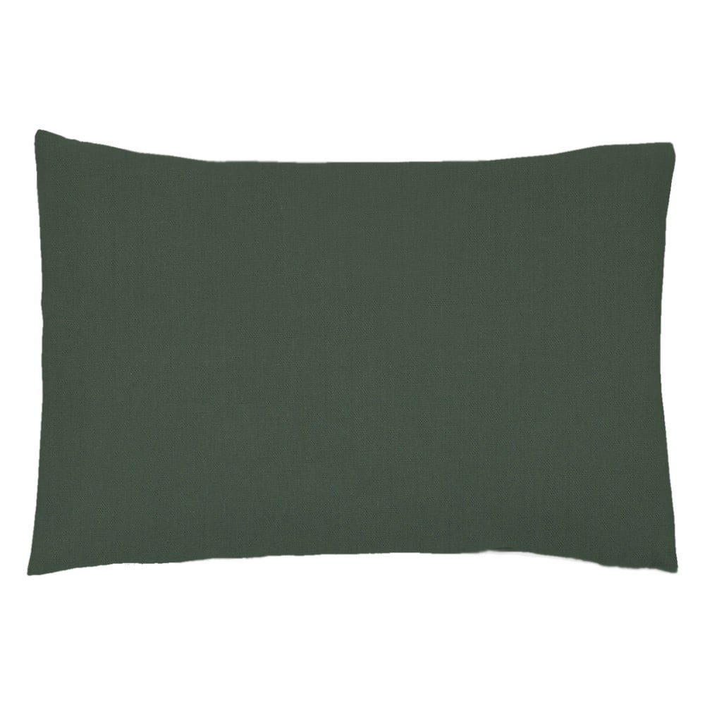 Sada 2 tmavě zelených povlaků na polštář z bavlněného perkálu L'Officiel Interiors Les Essentiels, 50 x 70 cm