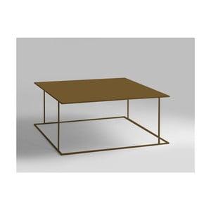 Konferenční stolek ve zlaté barvě Custom Form Walt, 100x100cm
