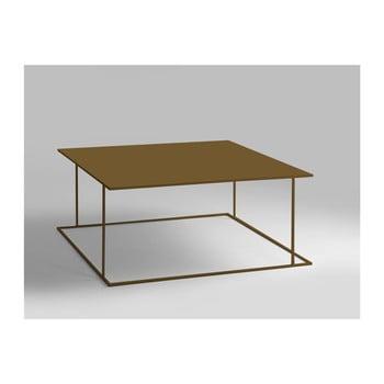 Masă de cafea Custom Form Walt, auriu, 100 x 100 cm de la Custom Form