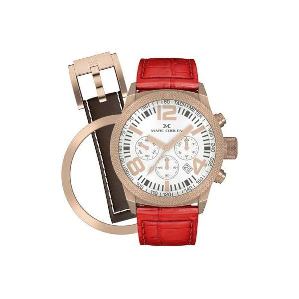 Dámské hodinky Marc Coblen s páskem a kroužkem navíc P31