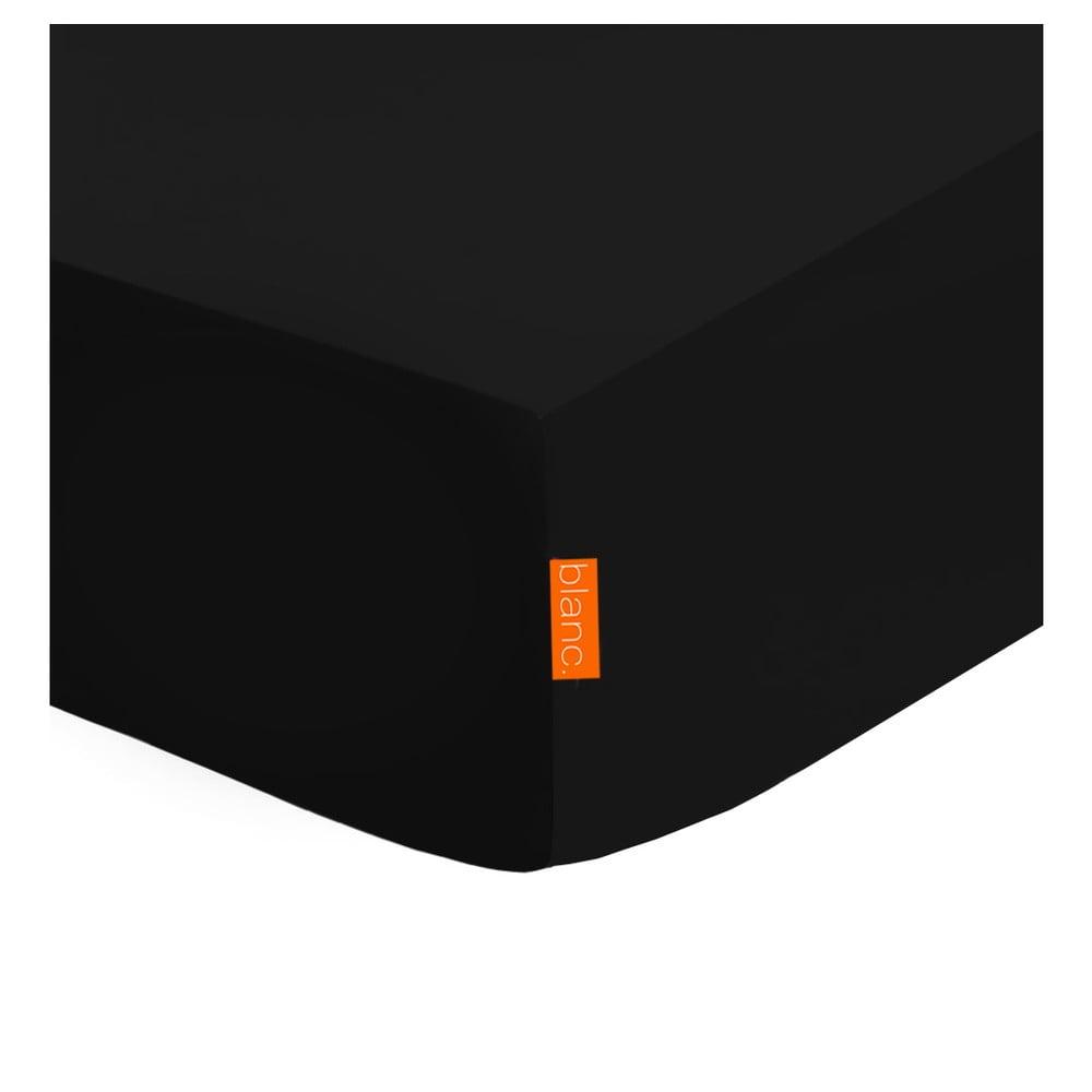 Černé elastické prostěradlo HF Living Basic, 180 x 200 cm