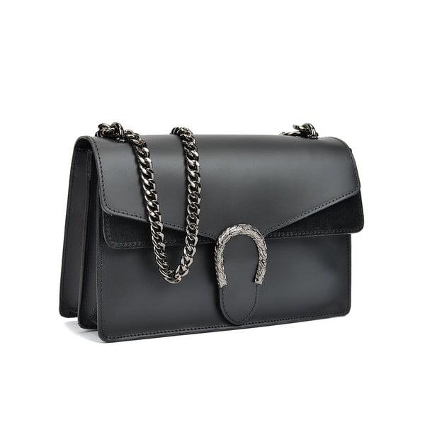 Černá kožená kabelka Isabella Rhea Leo